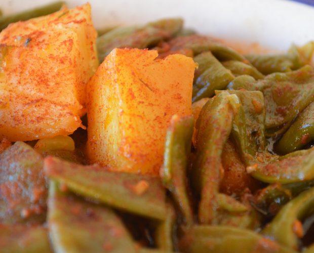Judías verdes con pimentón