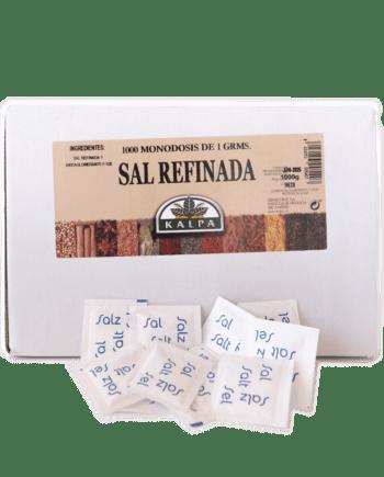 Caja y sobres de sal refinada KALPA